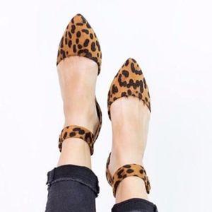 Animal print Ankle Wrap Flats
